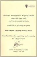 Certificate issued by the Mayor